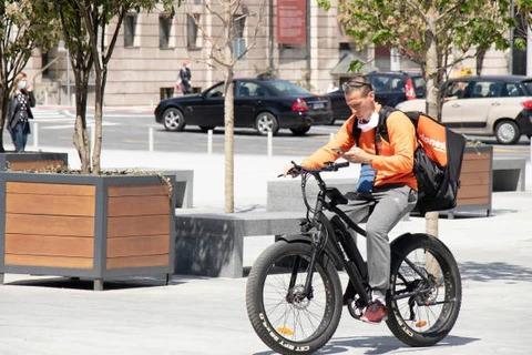 Delivery Guy on an Ebike