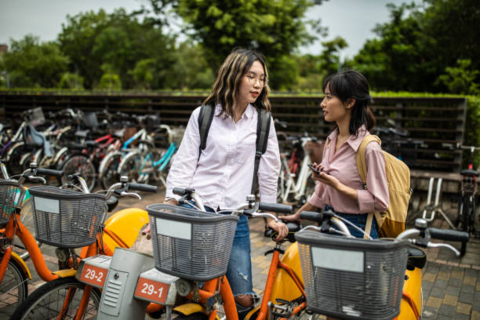Student Renting an Ebike