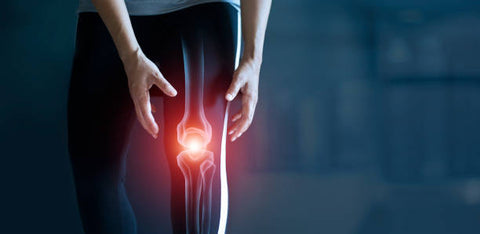 Woman suffering from pain in knee, Injury and find relief using ebike