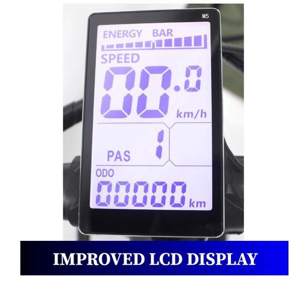 Ausstech Electric bike M5 Wide LCD Display - 2019 Models