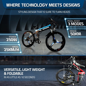 Ausstech Thunder 26 Foldable E-Bike M003