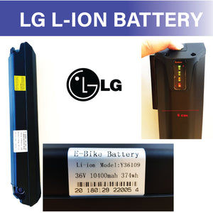 Ausstech Electric Bike Battery 36V 10.4Ah Genuine LG Lithium Ion Battery