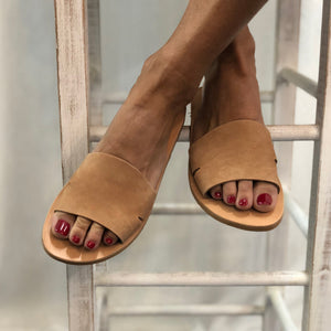 SIDE SLIT SLIDE by ALEXANDREA LIVING SHOES