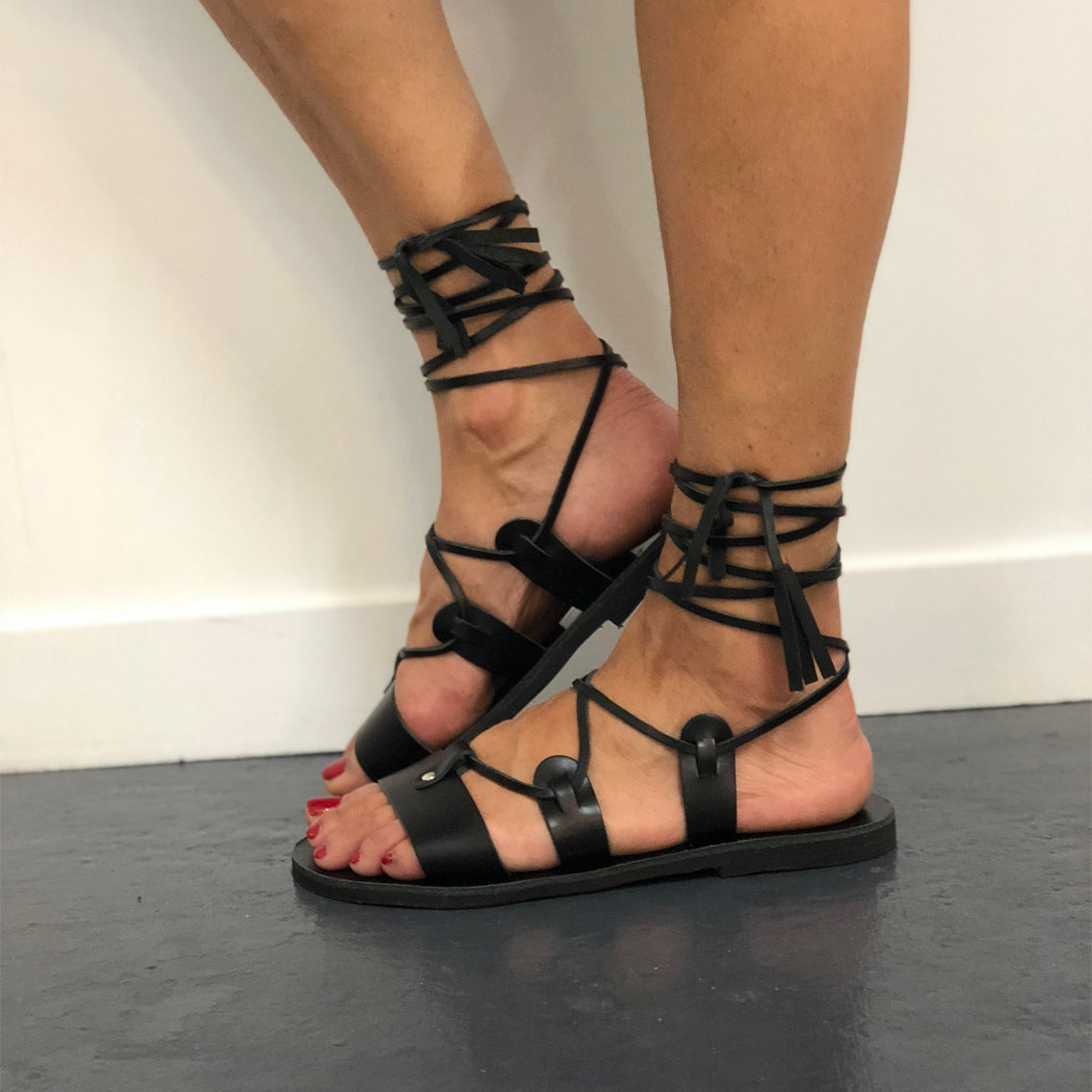 GLADIATOR SANDAL by ALEXANDREA LIVING SHOES