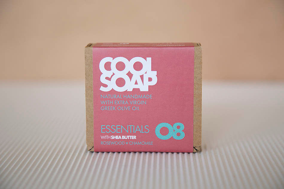 ESSENTIALS SOAP 08 – SHEA BUTTER & ROSEWOOD + CHAMOMILE by COOL SOAP