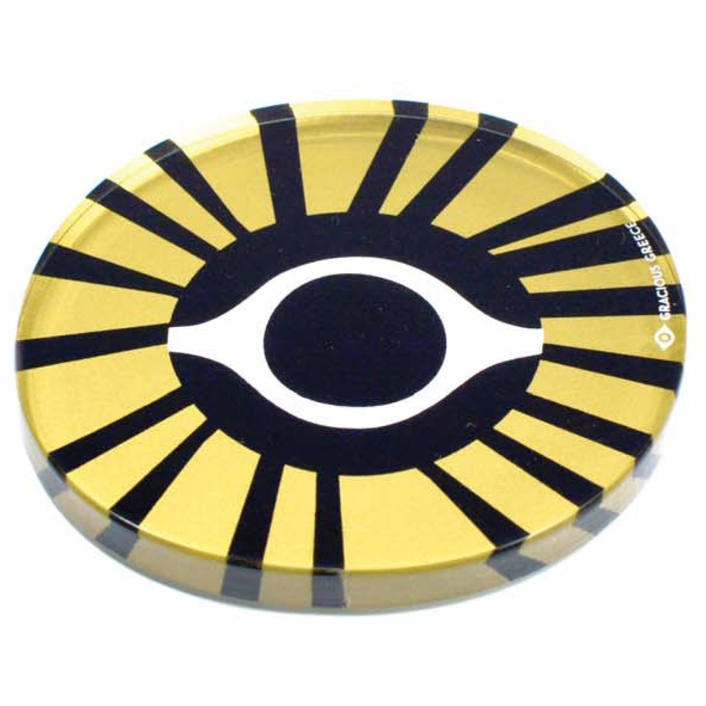 GOLD EVIL EYE COASTERS by GRACIOUS GREECE