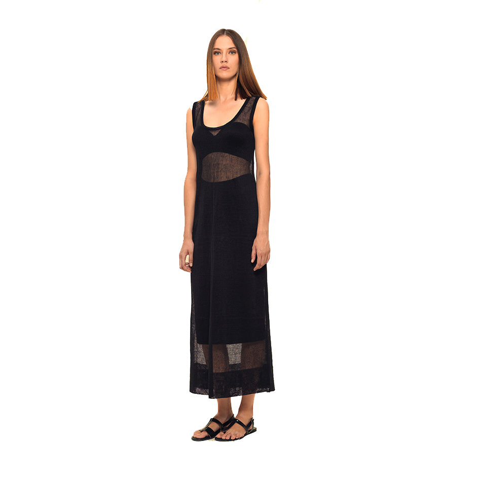 DIAPHANOUS MAXI DRESS by IOANNA KOURBELA