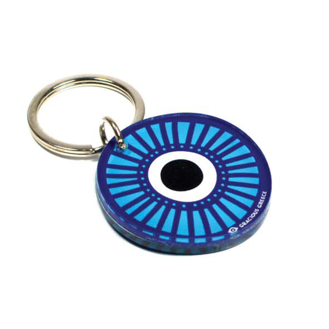 BLUE EVIL EYE-B KEY CHAIN by GRACIOUS GREECE