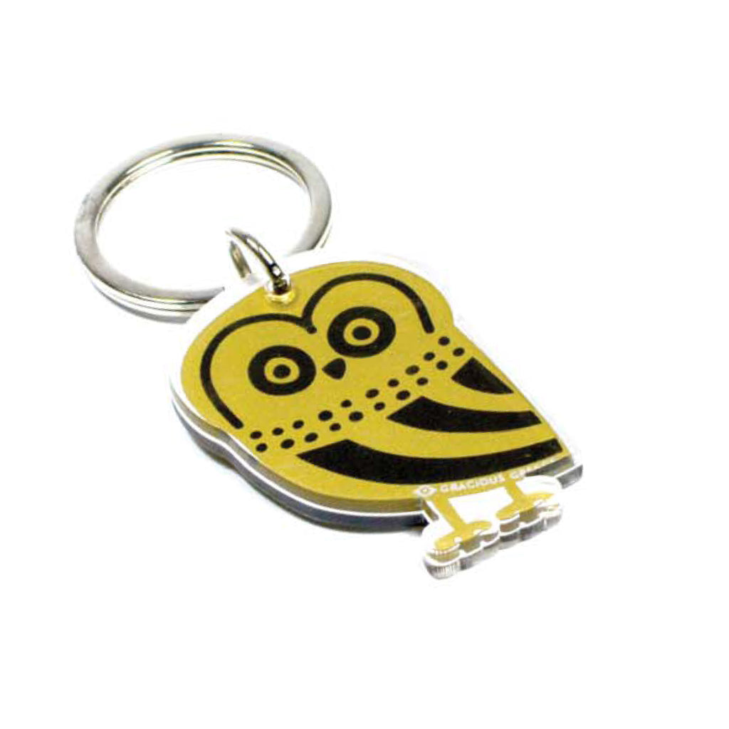 GOLD OWL KEY CHAIN by GRACIOUS GREECE