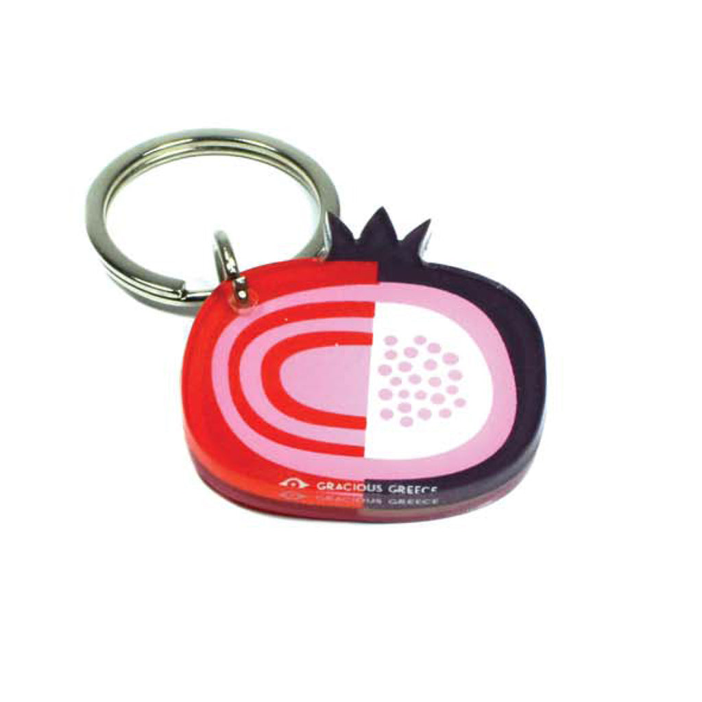 RED POMEGRANATE KEY CHAIN by GRACIOUS GREECE