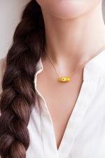 "BULLET SHAPE ""EYE"" NECKLACE by SOFIA PAPALEXIOU"