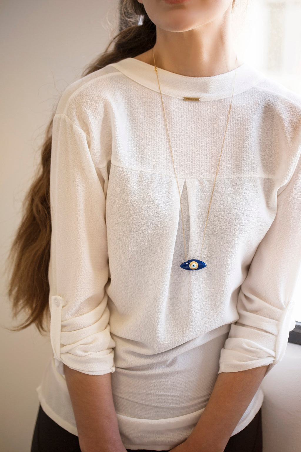 "ALMOND SHAPE ""EYE"" NECKLACE by SOFIA PAPALEXIOU"