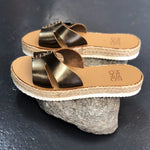 ALOE NEW METAL SOLID PLATFORM WEDGE / SLIDE by MOST CHIC