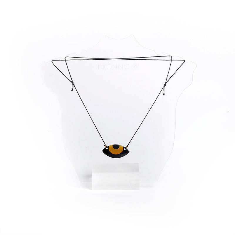 STONE EYE PLEXI GLASS NECKLACE