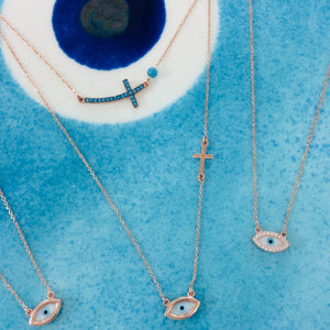 AEGEAN CROSS  NECKLACE