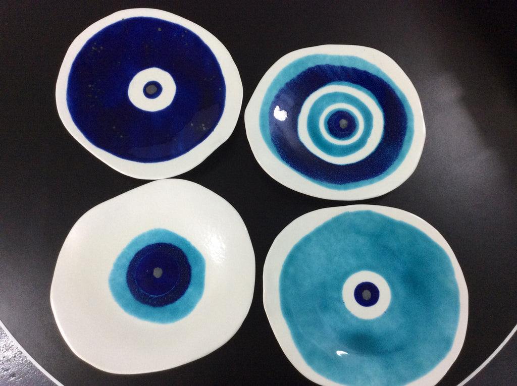 EYE ABSTRACT ROUND PLATE-CERAMIC