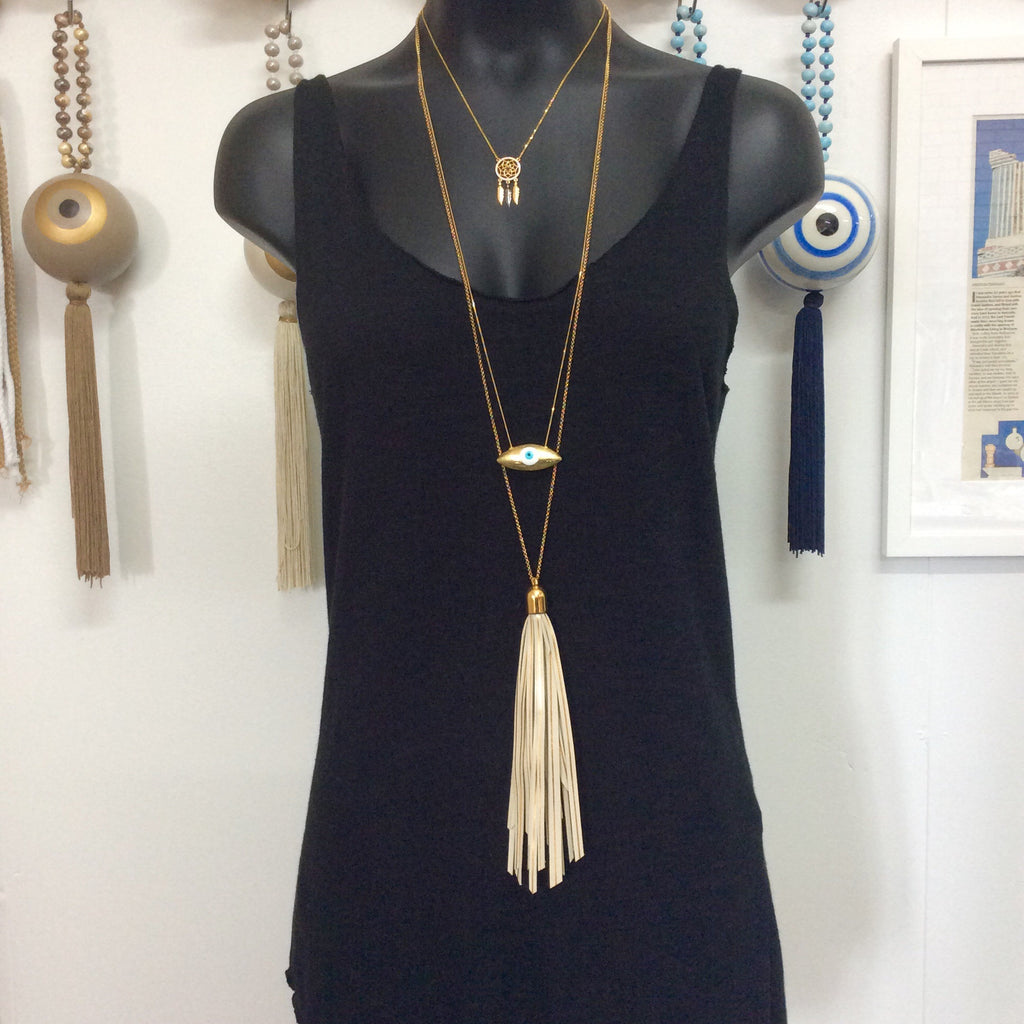 TASSLE NECKLACE by LEATHER TRINKETS