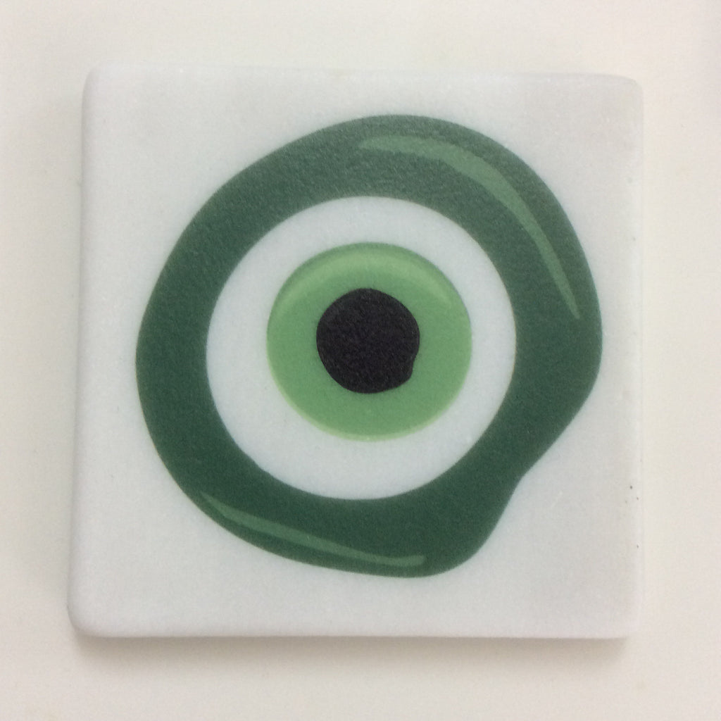 GREEN EYE-MATI COASTER