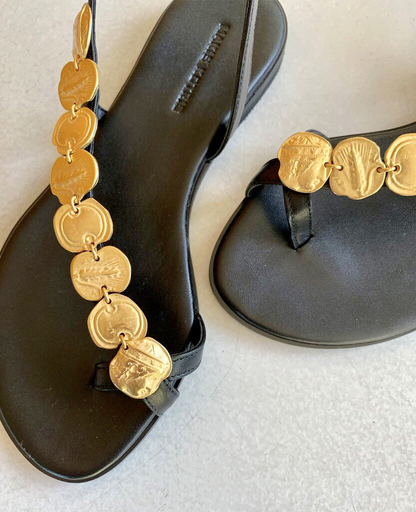 HELEN OF TROY COIN SHOE by MAKIS KOTRIS