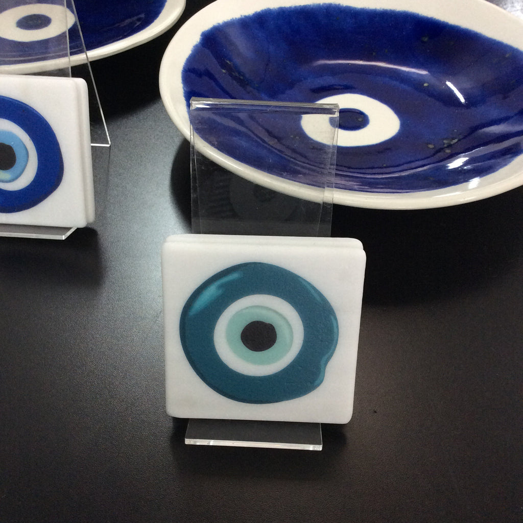 MINT/AQUA EYE-MATI COASTER