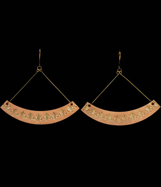 SEESAW EARRINGS by by LEATHER TRINKETS