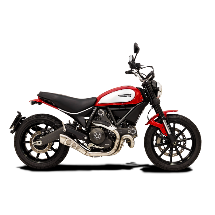 HP Corse Hydroform Slip-On Exhaust System w/ 3 hole cover for Ducati Scrambler
