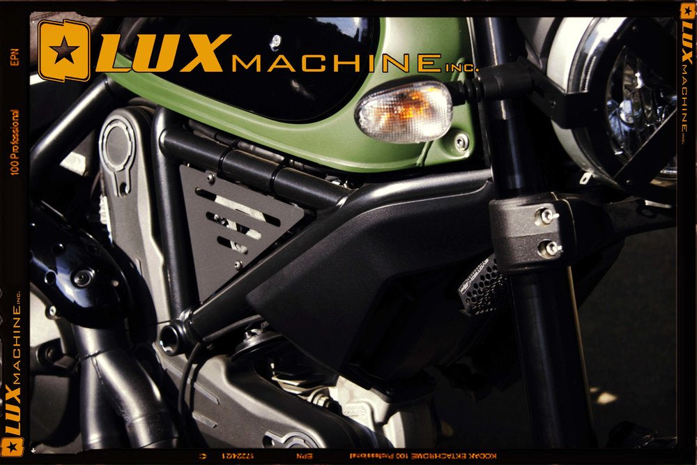 Lux Machine Inc. Finn Side Covers/Coil Covers for Ducati Scrambler