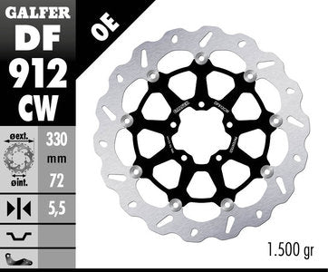 GalferUSA Front Brake Disc for Ducati Scrambler
