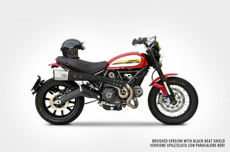 ZARD High Mount Full Exhaust for Ducati Scrambler