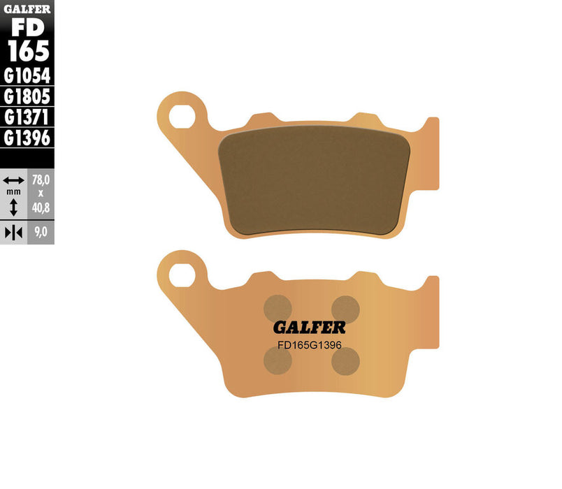 GalferUSA Rear Brake Pads (HH Sintered Compound) for Ducati Scrambler