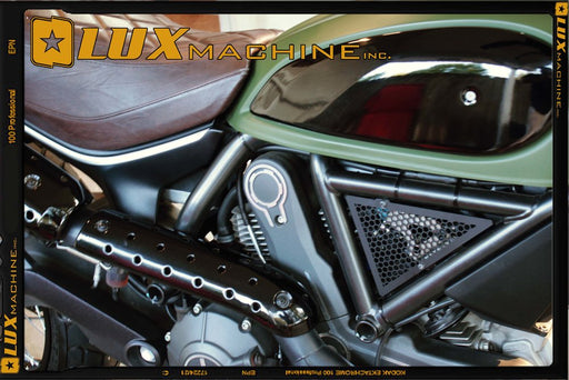 Lux Machine Inc. Marauder Side Covers/Coil Covers for Ducati Scrambler
