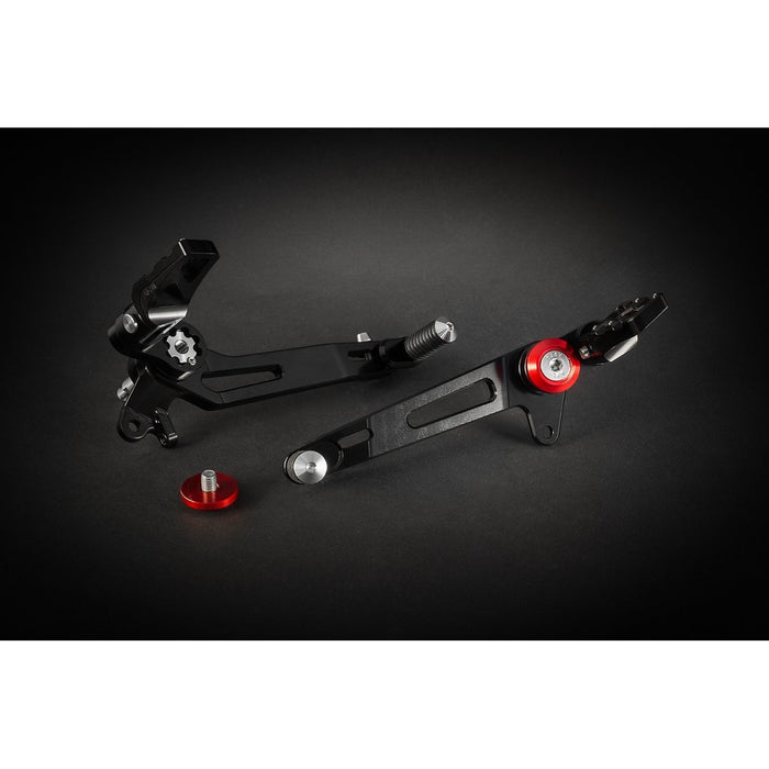 "AEM Factory Billet Rearset ""Adventure"" Kit for Ducati Scrambler"