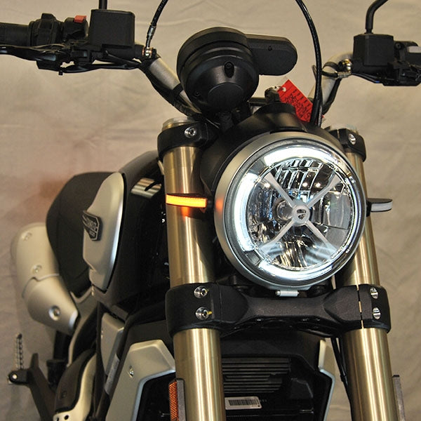 New Rage Cycles Front Turn Signals for Scrambler Ducati 1100 for Ducati Scrambler