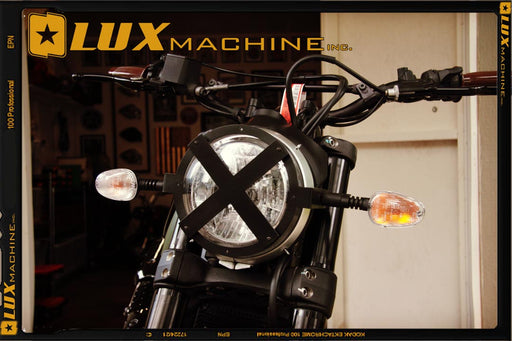 Lux Machine Inc. Headlight Shield for Ducati Scrambler