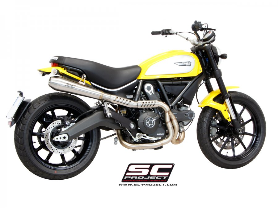 SC Project Conic Full System Exhaust for Ducati Scrambler