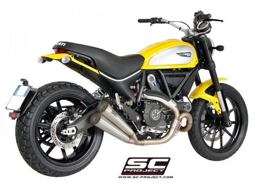 SC Project Conic Twin Exhaust for Ducati Scrambler