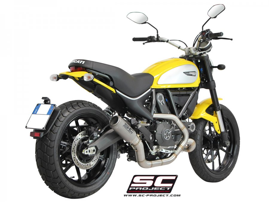 SC Project CR-T Full System Exhaust for Ducati Scrambler