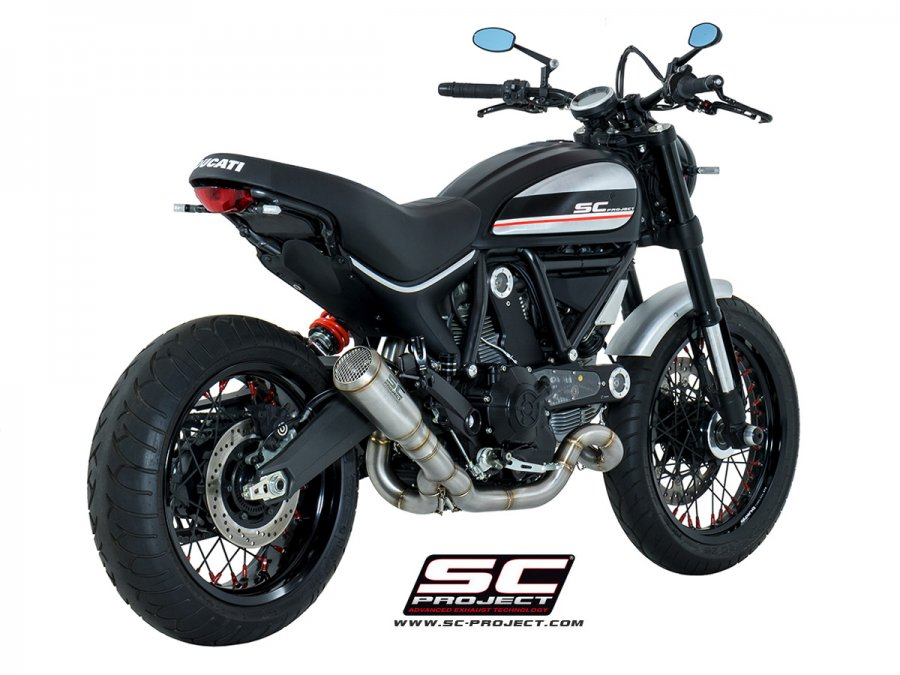 SC Project Conic Low Mount Full Exhaust System for Ducati Scrambler