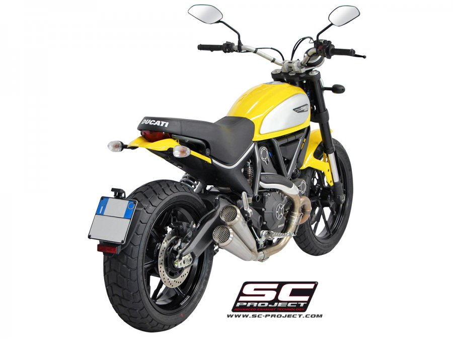 SC Project 70s Conic Twin Exhaust for Ducati Scrambler