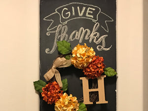 Give Thanks: DIY Chalkboard Niche