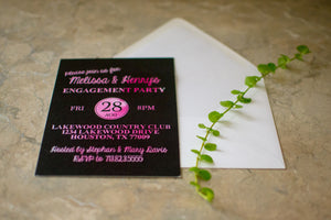 Watercolor Background Engagement Party Invitations