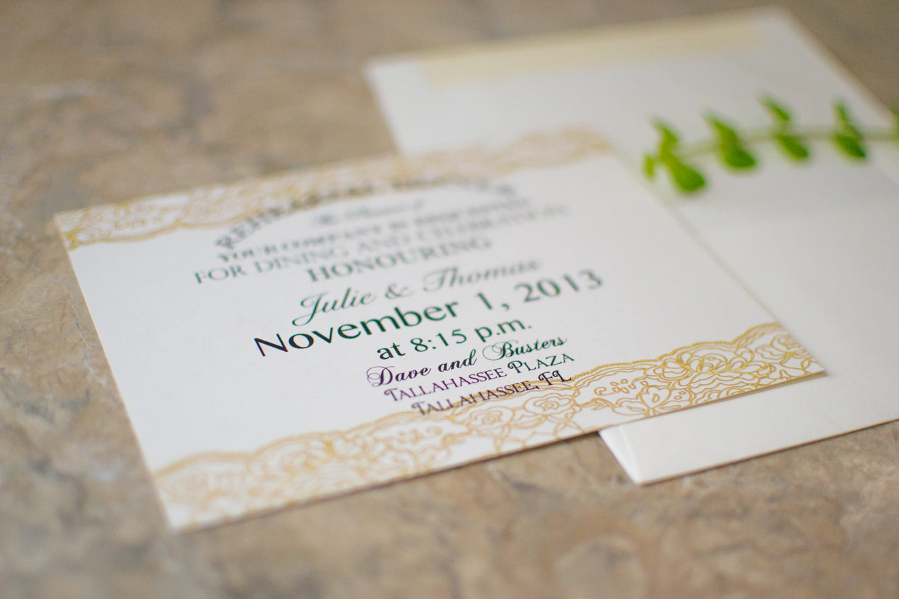 Lace Dinner Party Invitations