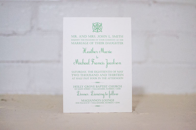 Daisy Wedding Invitations - Lindsay Ann Artistry