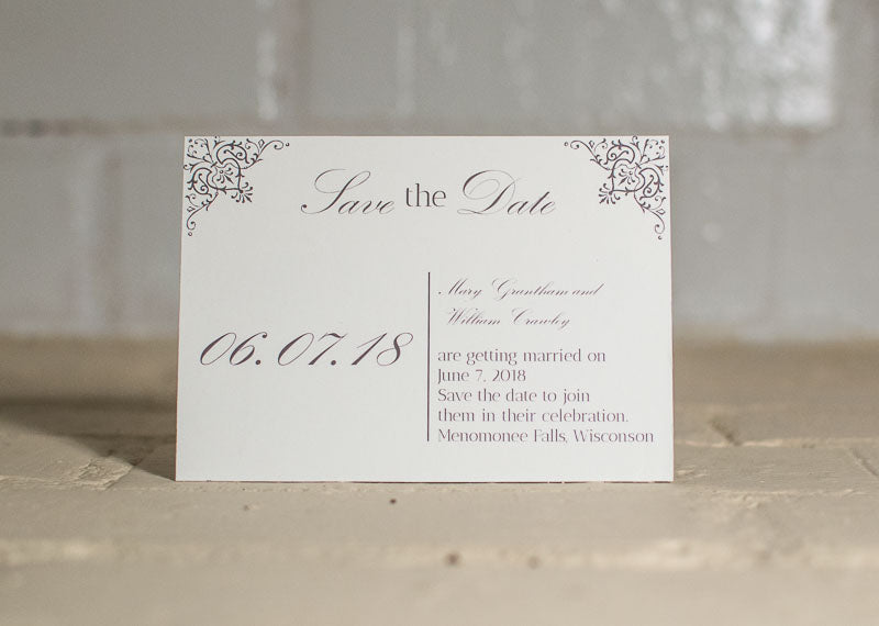 Ashley Save the Date Cards