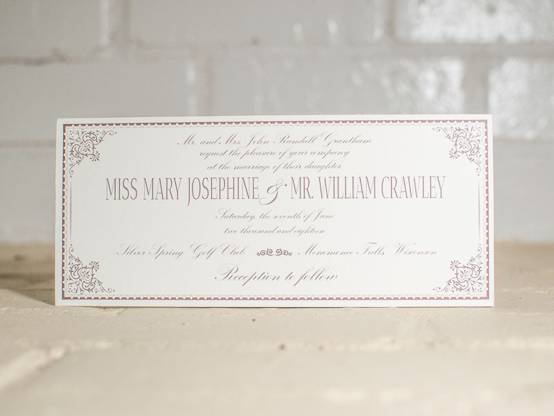 Ashley Wedding Invitations - Lindsay Ann Artistry