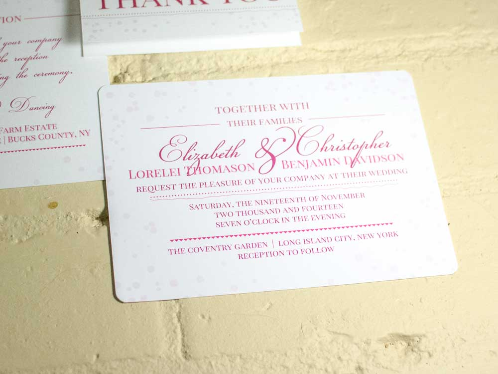 Bubbly Wedding Invitation Suite