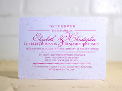 Bubbly Wedding Invitations - Lindsay Ann Artistry
