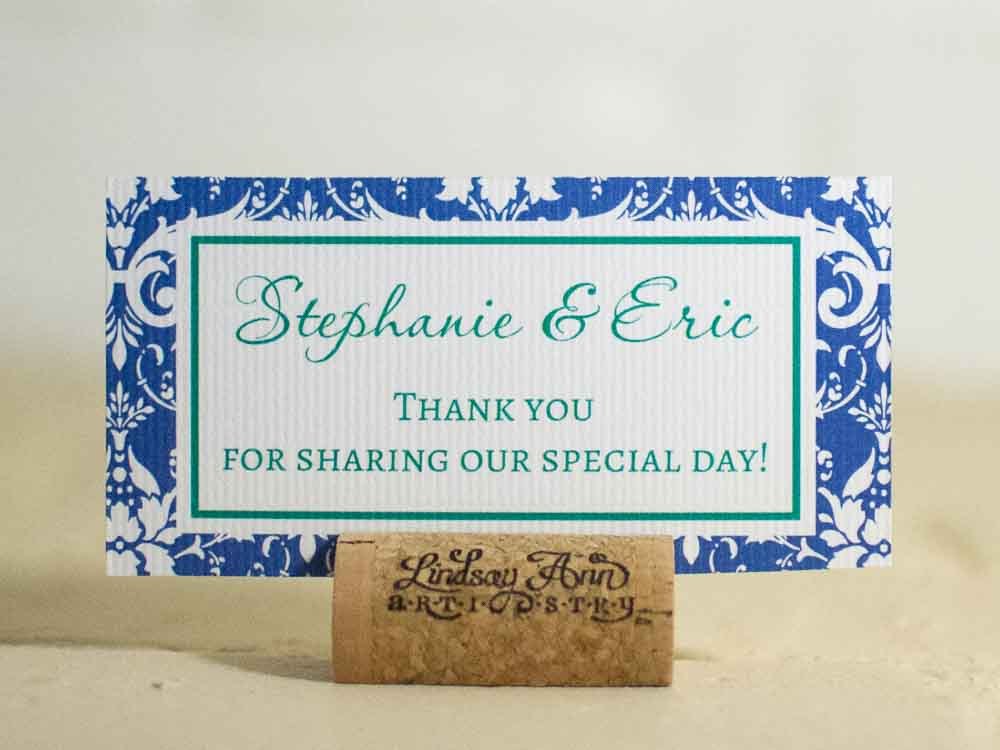 Stephanie Table Number Cards with Optional Place Cards
