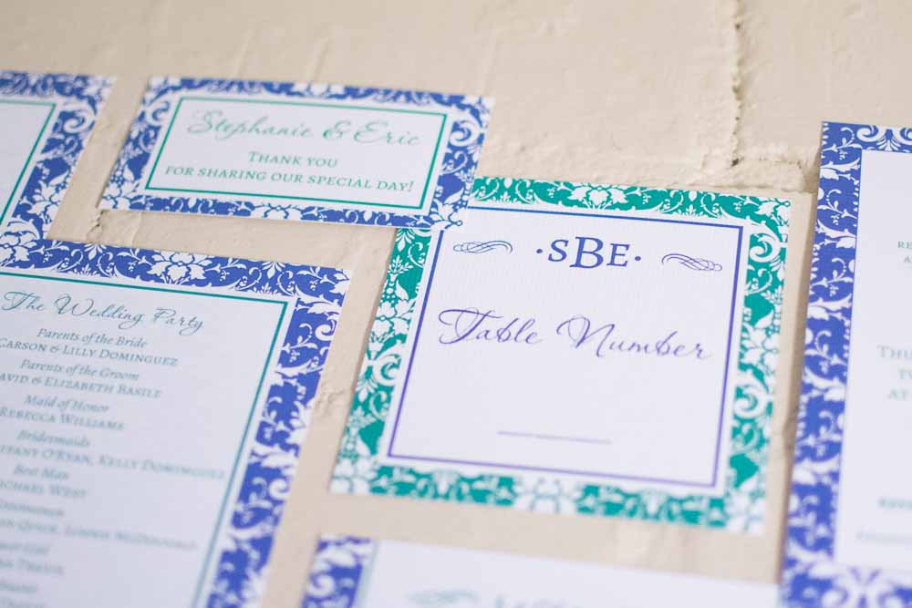 Stephanie Table Number Cards with Optional Place Cards - Lindsay Ann Artistry