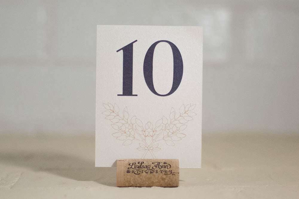 Nadia Table Number Cards with Optional Place Cards | Simple Place Cards & Table Cards - Lindsay Ann Artistry